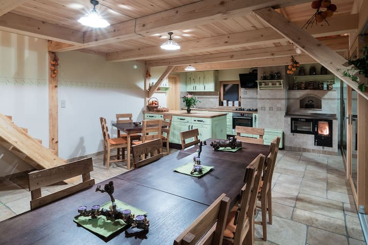 Common kitchen for socialising with our guests.