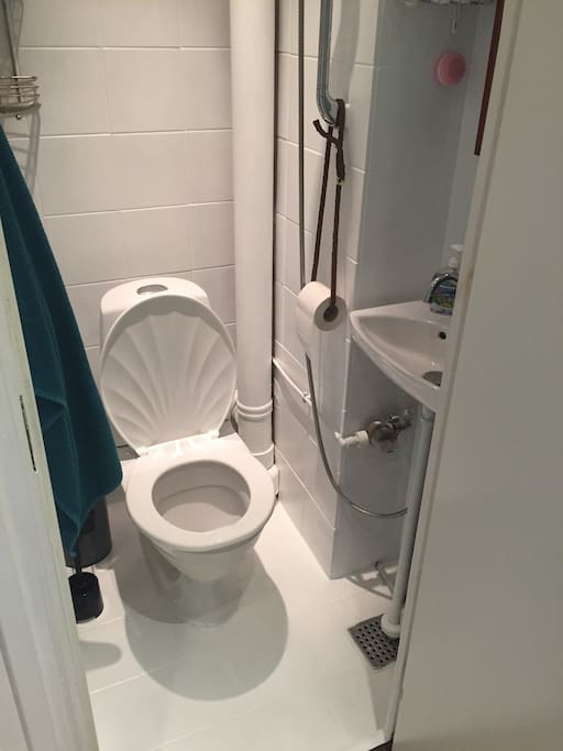 Bathroom. Yep, its not big, but its functional.