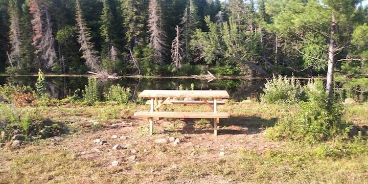 3D's RRC  T RV site 6 WF camping  Raquette River