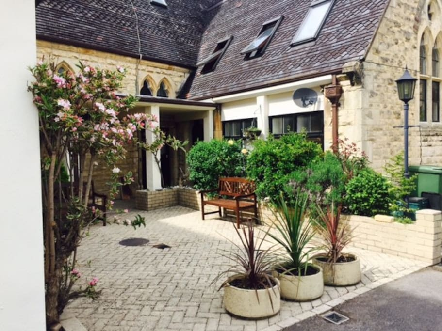 Entrance to property is via a shared, private courtyard.