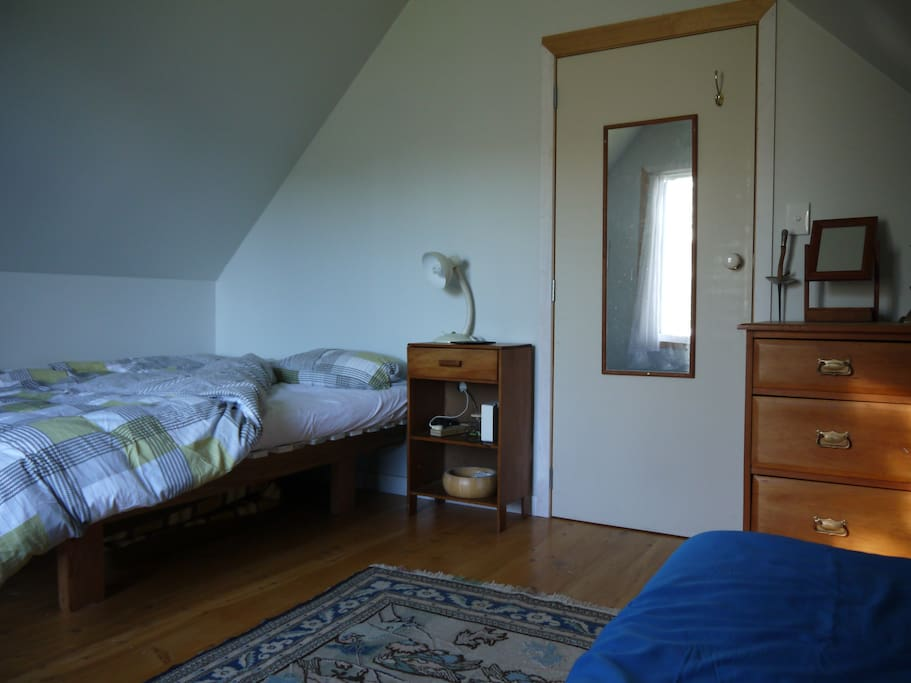 Bedroom with one double and up to two single beds