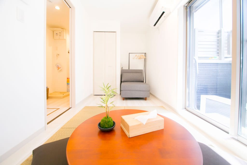 Bright new modern Japanese styled 1BR apt. space