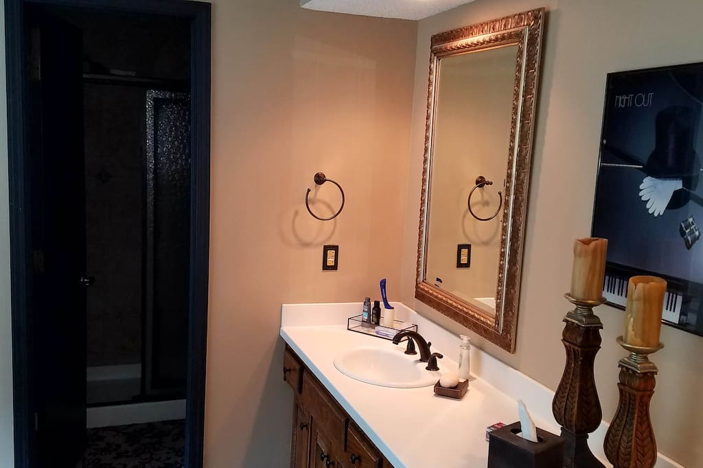 Master 1, Large double-sink bathroom with shower