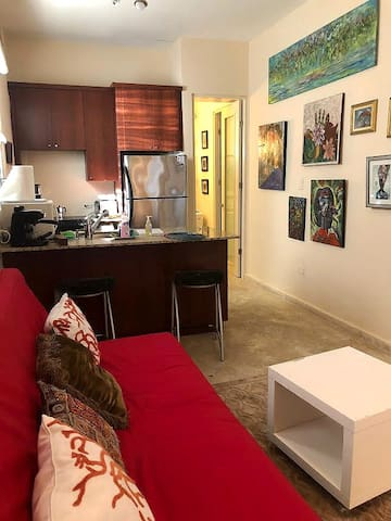 Art filled  apt. close to beaches and Old San Juan