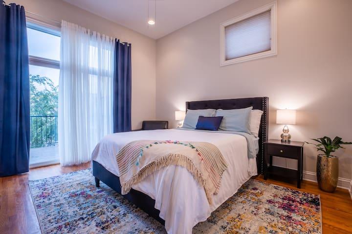 Elegant Master Bedroom, Luxury Bathroom, Balcony