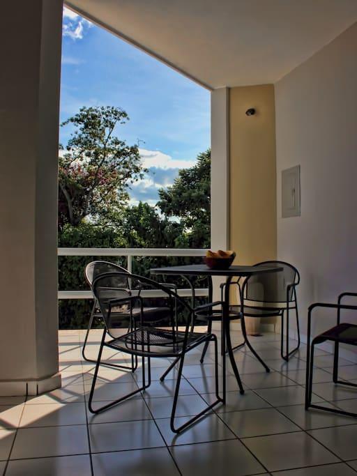 terraza balcón para tomar fresco