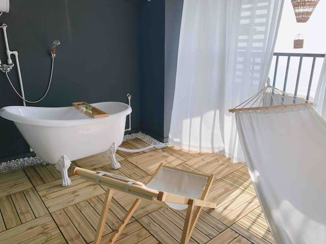 【H7公寓】汕尾保利金町湾海景吊床度假大床房23