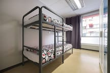 Bed in a female shared room ( 6 beds )