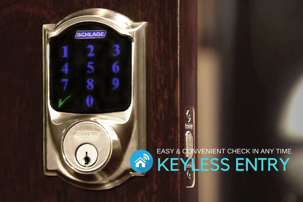 Digital Keyless Entry for Easy -  Any Time Checkin