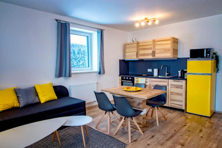 KLINOVEC VIEWS, Delux Apartment with Mountain View