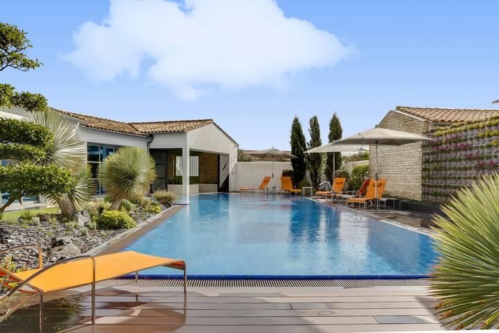 Luxueuse villa avec piscine chauffée et spa à Sain - Sainte-Marie-de-Ré - Hus