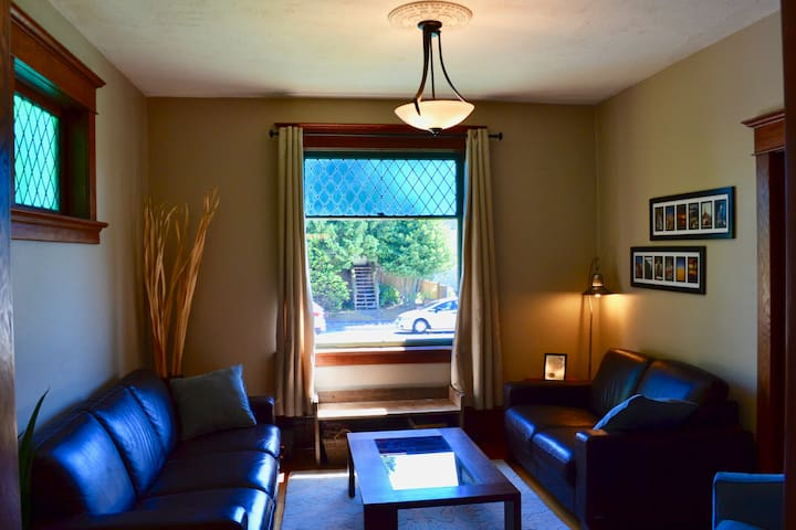 Our front living room is comfortable, provides great seating, games and puzzles