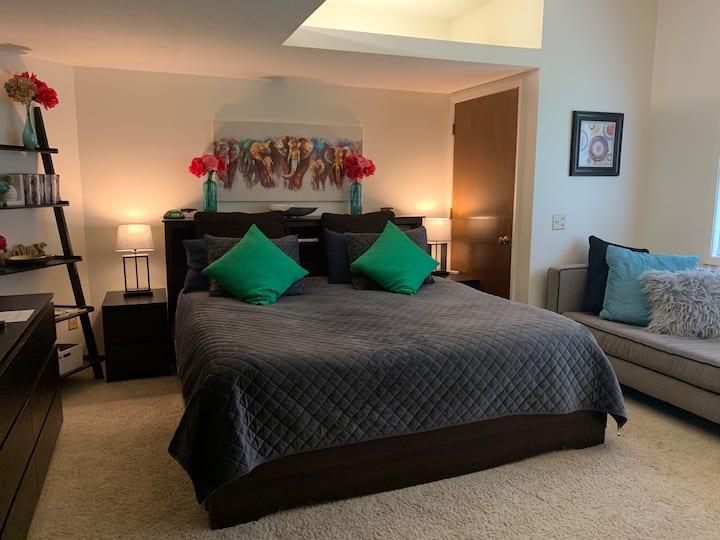 Cozy King Bedroom + Private Bathroom