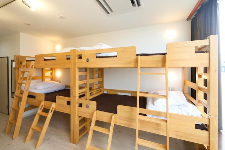 4pax room for LCC users (with bathroom)