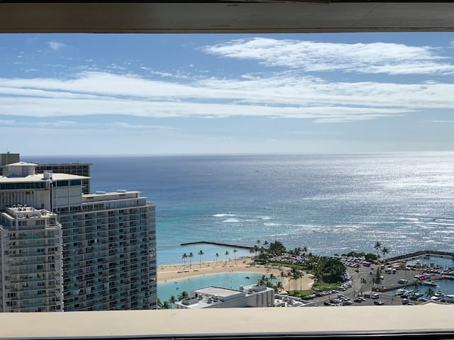 One in a Million View in Waikiki Studio Penthouse