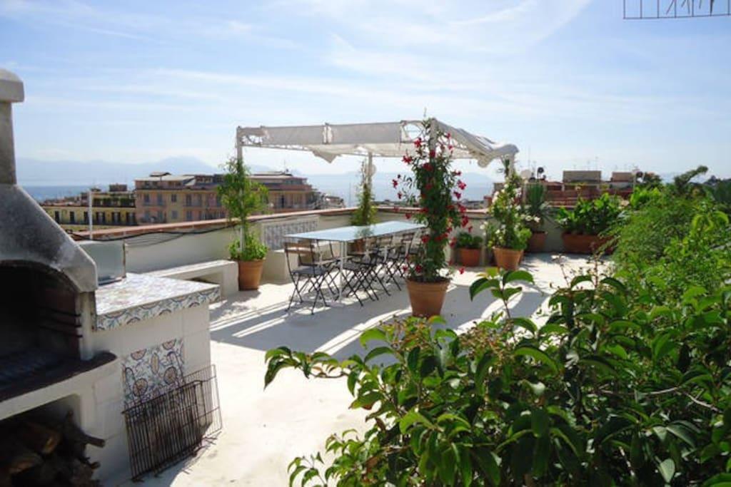 gazebo on terrace