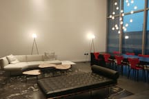 Comfortable and artistic ground floor lobby area