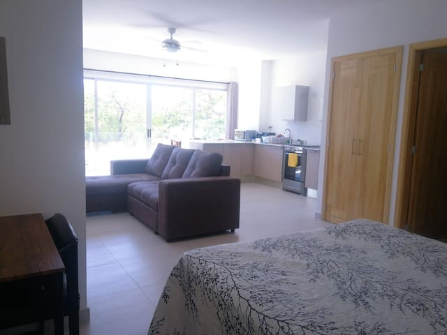 Beautiful studio apartment steps from the beach