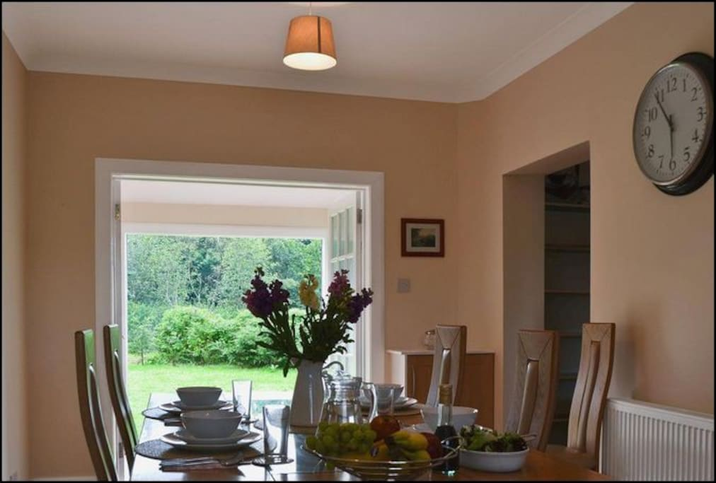 Looking from the kitchen to the garden