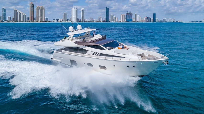 80' Ferretti - Rent a Luxury Yachting Experience!