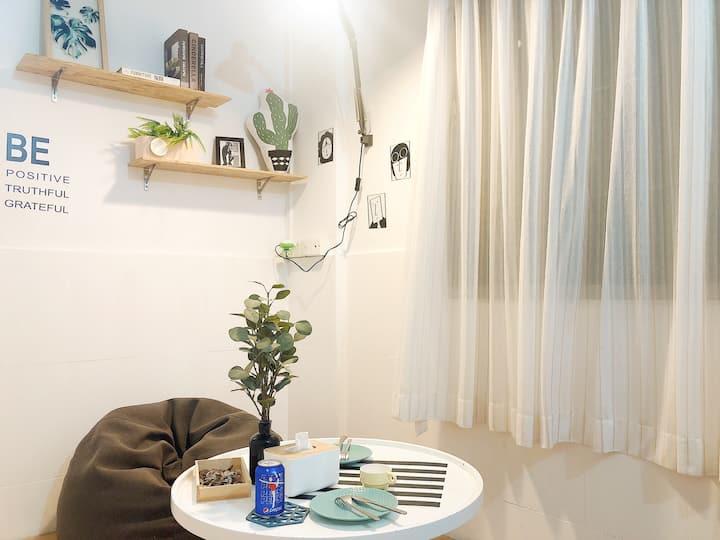 【米宿】舒适一房一厅带厨房独卫 近大学城 支持短租