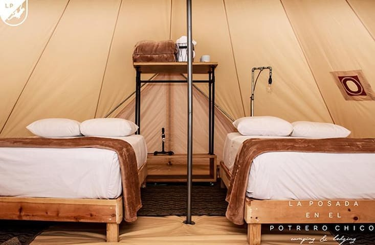 Beautiful Glamping 2 Double Beds on Potrero Chico