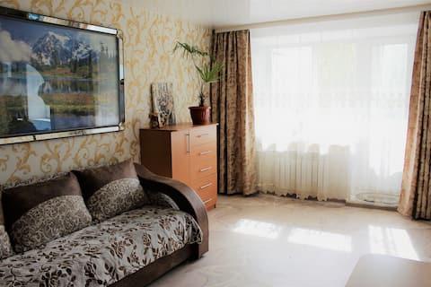 Уютная двухкомнатная квартира с хорошим ремонтом