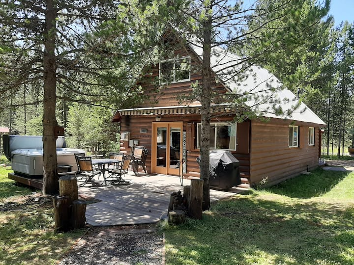 Uncle Tom's Cabin, 5 beds, hot tub, 30 mi. to YNP.