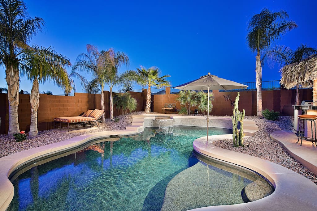 Relax in the beautiful pool and hot tub!