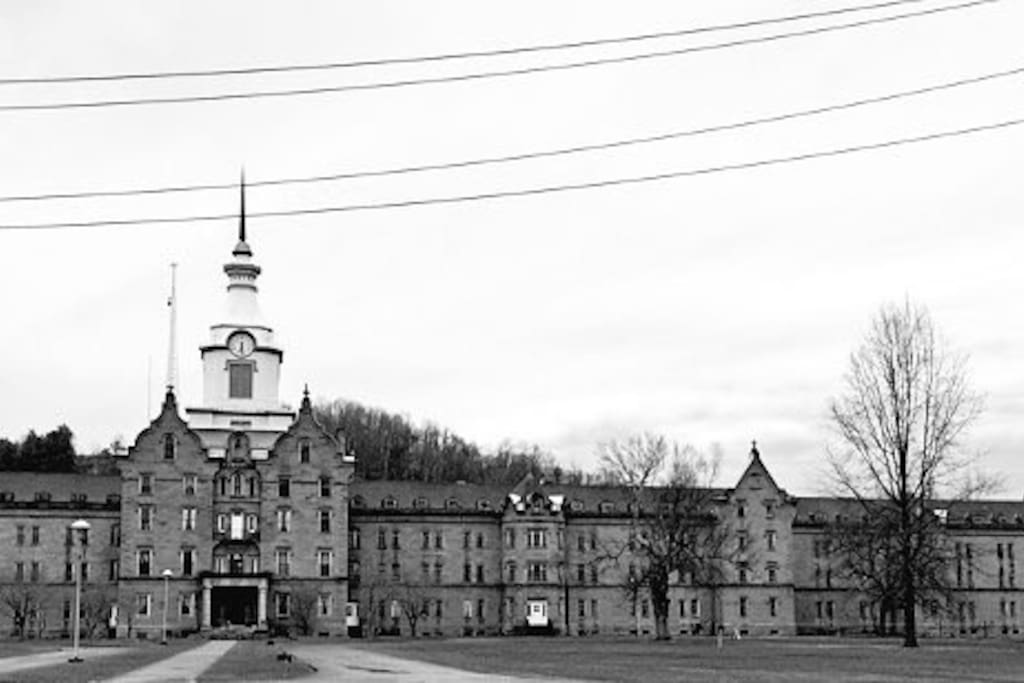 The Trans-Allegheny Lunatic Asylum is the largest hand cut stone building next to the Louvre Museum in Paris.