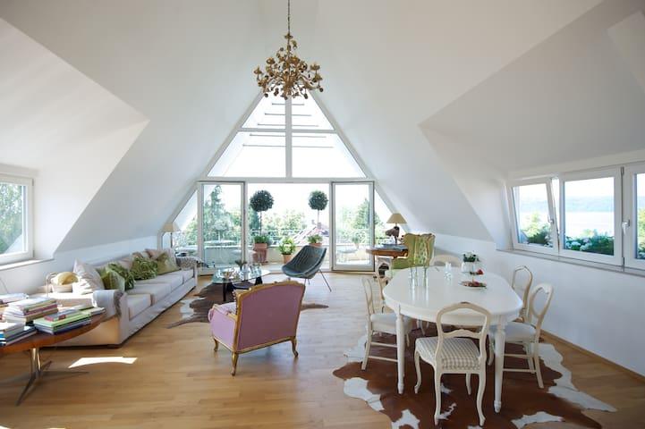 Einzelzimmer in Penthouse mit 270 Grad Seesicht