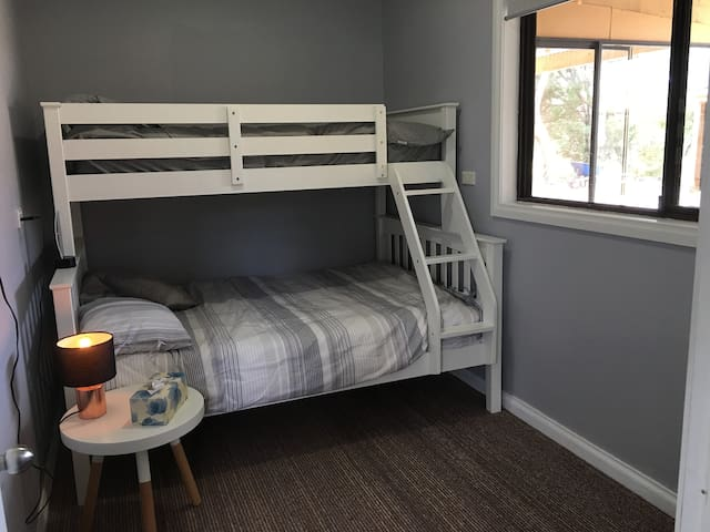2nd bedroom Sleeps 3 , single over double bed. Brand new bed and mattresses and sheets.