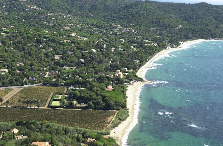 Sea view apartment close to beach & Saint Tropez - La Croix-Valmer - Apartemen