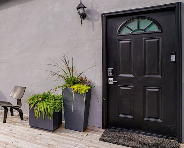 Separate Private Entrance with Schlage Keyless Entry and Ring Video Doorbell