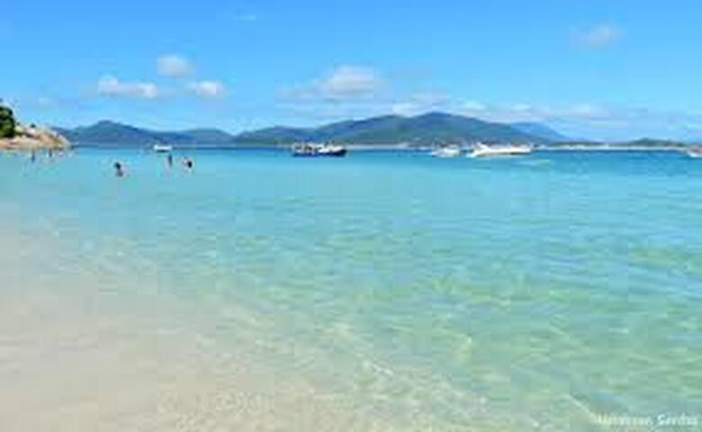 Foto da praia na Ilha do Campelche