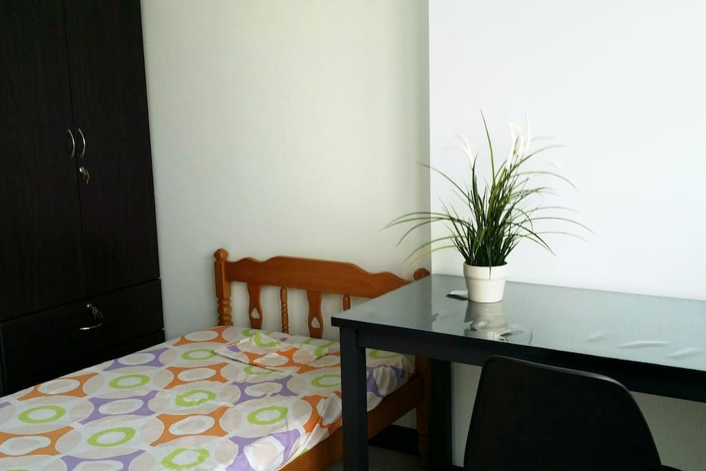 Sunny, clean apartment room with everything you need!