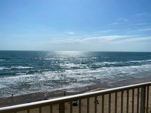Balkon am Strand! Meeresgeräusche & Sonnenuntergang!