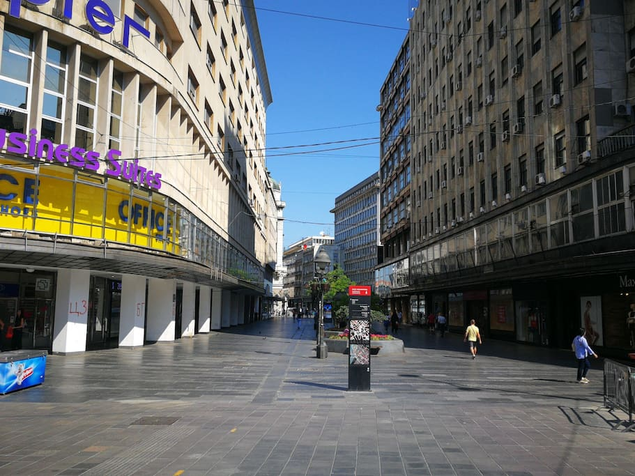 we are at the beginning of Kneza Mihaila street