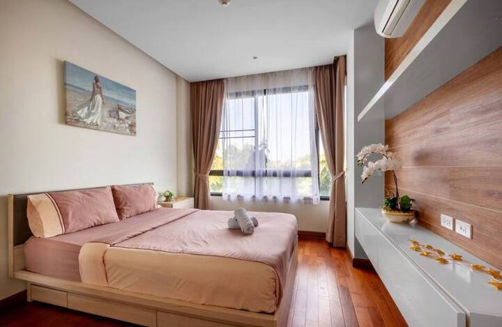 The Pastel apartment 5 mins walk to Naiharn beach