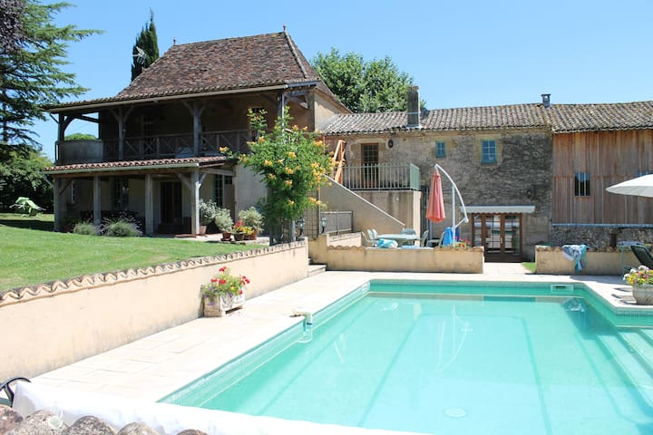 Farmhouse gite with pool