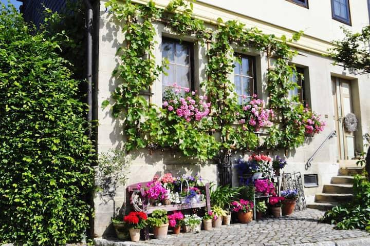 Ferienwohnung im idyllischen Landhaus im Grünen
