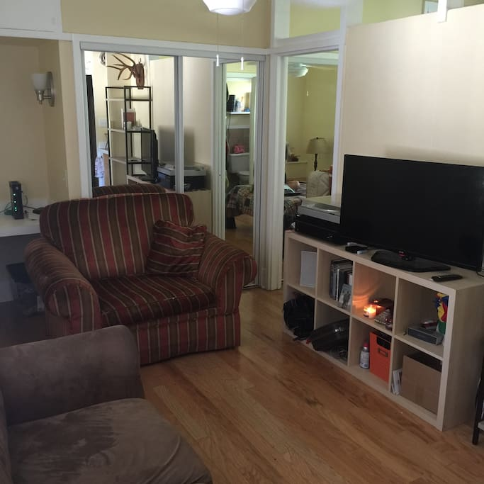 Seating area and TV