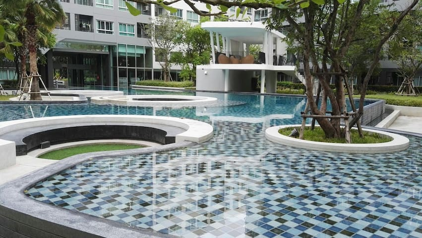 9minBTS@UdomsukSukhumvitBigPoolGym - Bangkok - Apartment