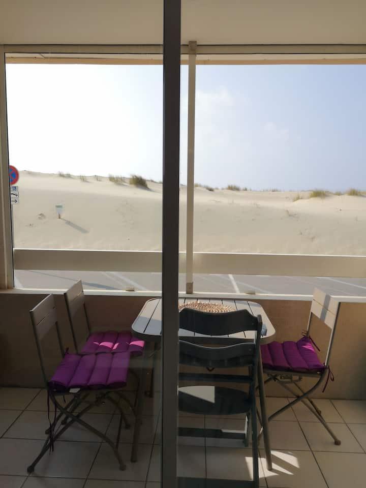 Bel appartement t2, front de mer, vue dune.