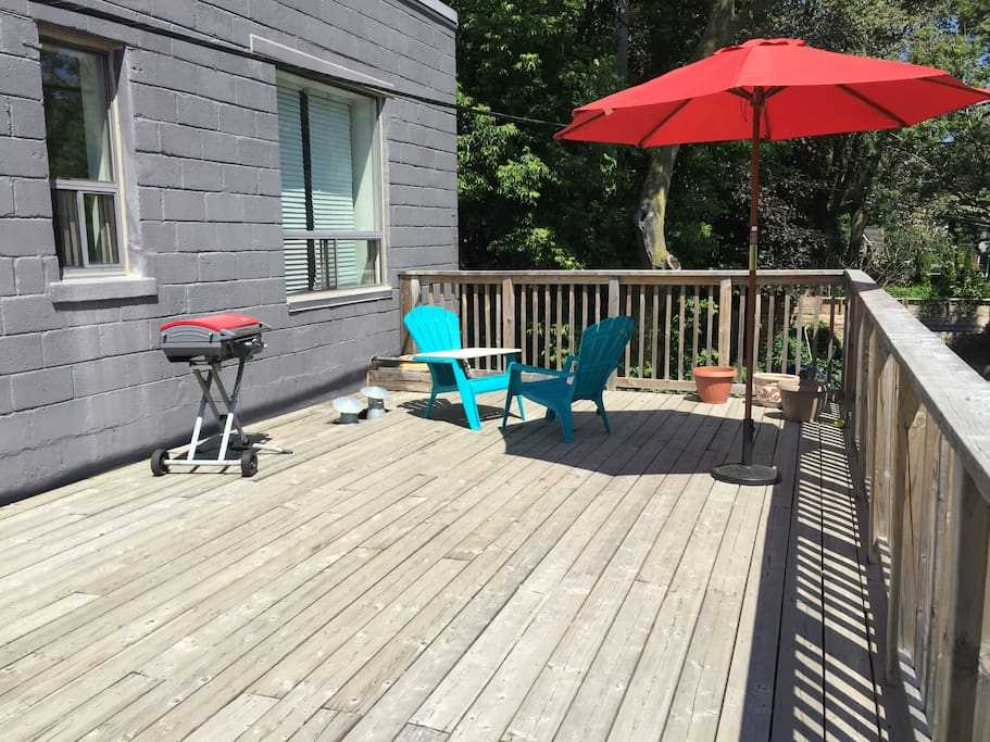 Without a doubt, the best private patio in the hood. :)