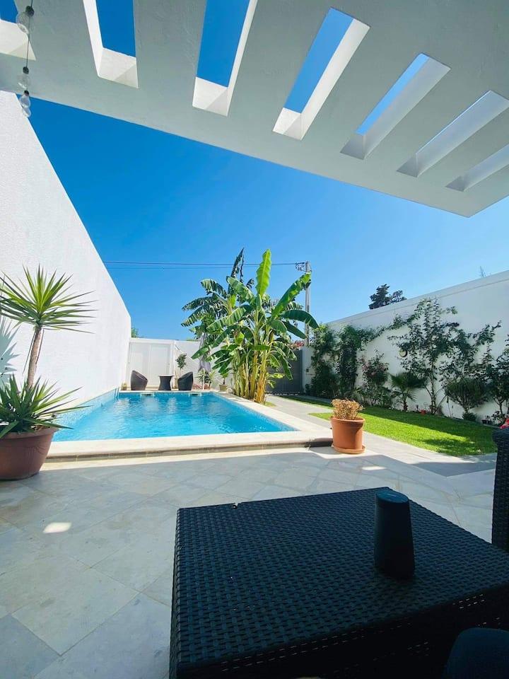 Chambres chez l'habitant, villa+piscine à Gamarth