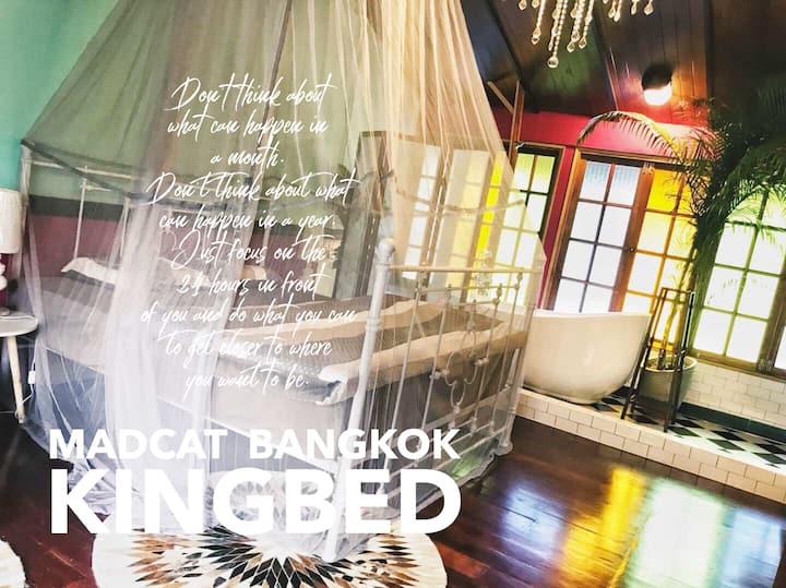 f2t2 曼谷疯猫民宿/MADCAT BANGKOK/开放式浪漫浴缸/独栋别墅里的独立间/私人泳池/