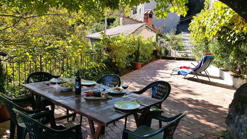 Relax under the fig tree with the mountain views. - Casoli - Casa