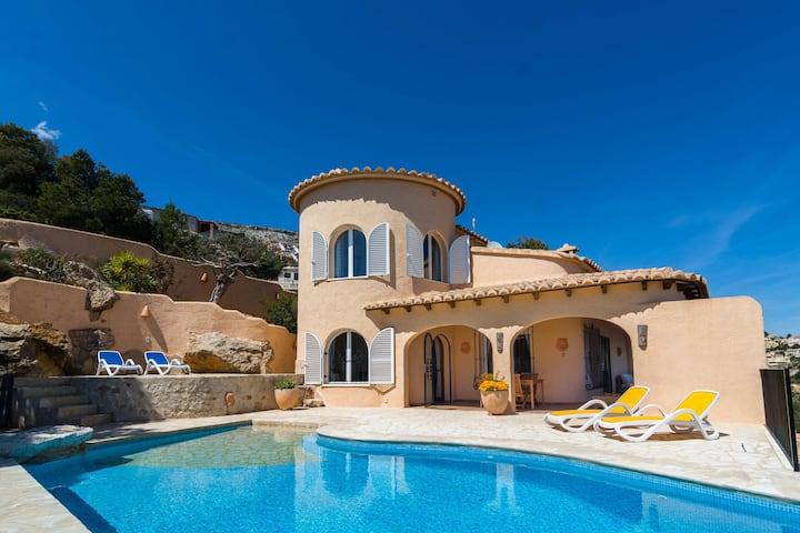 Scenic Villa in Moraira with Swimming Pool