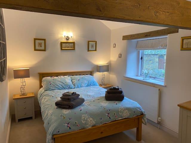 Bed 1 Double Bedroom with Garden Views